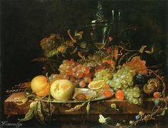 Abraham Mignon (1640-1679) Натюрморт с фруктами. 1663/64 Städel Museum, Frankfurt am Main