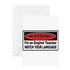 English Teacher Greeting Cards