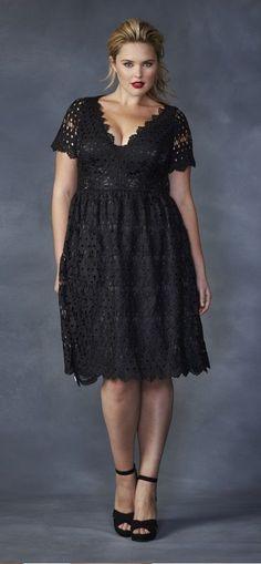bf1d8253595 Simply Be - Lovedrobe Low-cut Crochet Dress. Plus Size ...