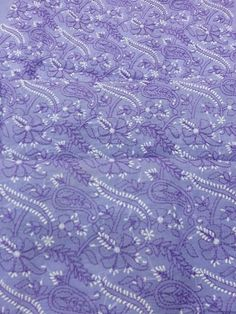 Purple colour exclusive lucknavi chikan cotton suit length with fine jaaldar embroidery and full sleeves along with pure chiffon duppata #chikankari $72.5