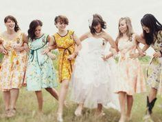 not uniform - wedding bridesmaid dresses Rustic Wedding