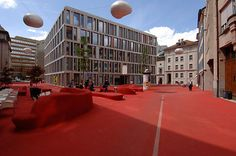 St. Gallen, Switzerland City lounge in St.Gallen CARLOS MARTINEZ, PIPILOTTI RIST