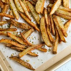 These easy homemade Air Fryer Fries cook up crispy without the added fat from deep frying. With just a few ingredients and a little planning these taters can be all yours. There is nothing better than home cooked French Fries especially without the greasy clean up! Enjoy a batch today dipped in my delicious Southern Comeback Sauce. Or air fry a batch up for Chili Cheese Fries or Poutine. Perfectly crispy and easy Air Fryer French Fries are always a hit. Enjoy all the taste of fried taters…