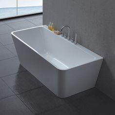 Corner Bath for sale Bathtubs For Sale, Polished Concrete Flooring, Bathroom Spa, Bathroom Ideas, Bathroom Inspiration, Corner Bathtub, New Homes, House, Design