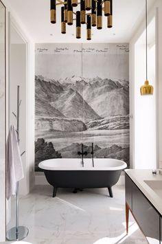 Luxury bathroom design ideas: 21 ways to get a hotel spa look Bad Inspiration, Bathroom Inspiration, Bathroom Ideas, Bathroom Storage, Bathroom Organization, Bathroom Renovations, Bathroom Mural, Bathroom Vanities, Bathroom Tubs