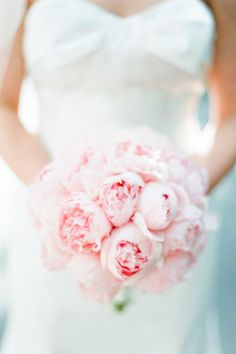 Baby pink peony bouquet: http://www.stylemepretty.com/2014/10/01/bright-and-colorful-new-york-city-affair/ | Photography: Brklynview - http://www.brklynview.com/