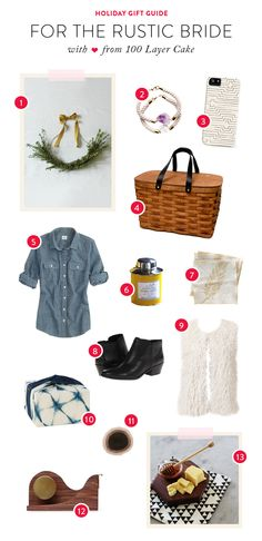 Gift Guide: For the Rustic Bride | See the details on #SMP Weddings ~ www.stylemepretty...