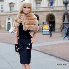 Last day in Milan, enjoying a peaceful early morning walk by Teatro alla Scala, the local Opera House.  #mfw #barbie #barbiestyle | via @BarbieStyle