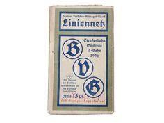 Vintage Landkarten & Reiseliteratur - Berlin ° BVG - Liniennetz ° 1936 - ein Designerstück von KlausUndSo bei DaWanda