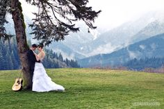 wedding with mountains, and guitar by willpursellphoto, via Flickr