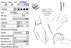 "Drawing Tutorial raitoskitchen - If I met you in real life, I would call you ""Big Loser"", even though you are probably shorter than me, and hug you. and maybe mess up your hair =w= And I would brush my hair very slowly and just stare. Digital Painting Tutorials, Digital Art Tutorial, Painting Tools, Drawing Tips, Drawing Reference, Learn Drawing, Drawing Tutorials, Paint Tool Sai Tutorial, Sai Brushes"