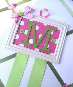 Personalized Initial Hairbow Holder in by boopsydoodleboutique