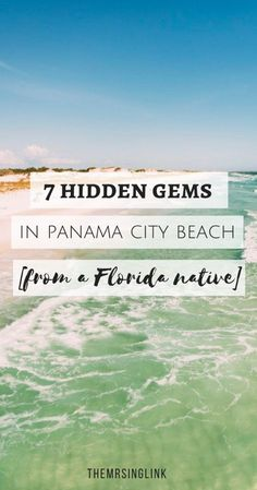 7 Hidden Gems In Panama City Beach [From A Florida Native] - - This is a sponsored post written by me on behalf of Visit Panama City Beach. All opinions are mine. I still remember childhood memories of my parents saying,…. Panama City Florida, Panhandle Florida, Destin Florida, Destin Beach, Florida Vacation, Florida Travel, Florida Beaches, Florida Trips, Travel Oklahoma