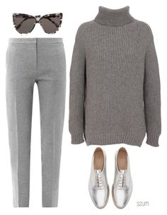 """203"" by szum ❤ liked on Polyvore featuring CÉLINE, MaxMara, Zara and Prism"