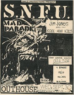 SNFU & Mad Parade at the Outhouse