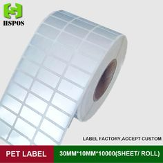 27.50$  Watch here - Silver PET label 30*10mm 10000pcs one roll three row self adhesive logo stickers labels waterproof high temperature resistant  #magazineonline