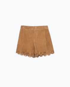 Image 8 of SUEDE CUTWORK SHORTS from Zara