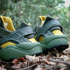 Army forest custom huaraches