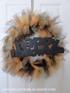 Apothecary Home: Halloween Tulle Wreath