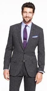 Tweed in a Herringbone or Prince of Wales Pattern
