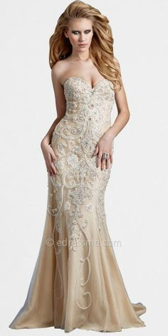 This sexy evening gown is completely eye-catching, with its gorgeous, hand-beaded, carefully crafted art-deco swirl patt...Price - $946.00 - I6OuTWGP