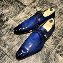Handmade leather lace up dress shoes for men unique design custom shoes for men Boots - Men Dress Shoe - Ideas of Men Dress Shoe Blue Shoes, Lace Up Shoes, Men's Shoes, Shoe Boots, Dress Shoes, Men Boots, Custom Design Shoes, Custom Shoes, Derby