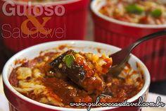 Para o #almoço temos Berinjela à Parmegiana, do jeitinho que todos gostam: fácil, rápida, levinha, deliciosa e, claro, super saudável.  #Receita aqui: http://www.gulosoesaudavel.com.br/2012/10/03/berinjela-parmegiana/
