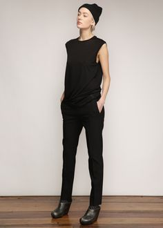 Totokaelo - Acne Studios Black Saville Stretch Pant Minimal Fashion, Timeless Fashion, Minimal Chic, Stretch Pants, Wearing Black, Get Dressed, Black Pants, What To Wear, Acne Studios
