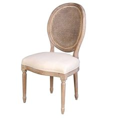 The Napoleon Chair w/ Cane Back - Antique Linen from LH Imports is a unique home decor item. LH Imports Site carries a variety of Dining Chairs and other Products furnishings. Solid Wood Dining Chairs, Kitchen Chairs, Upholstered Dining Chairs, Dining Chair Set, Dining Room Chairs, Dining Furniture, Cool Furniture, Lounge Chairs, Cane Back Chairs