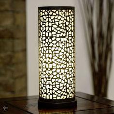 bol.com | Eglo Almera - Tafellamp - 1 Lichts - Antiek-Bruin - Champagne | Wonen €39,99