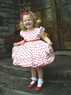 Savannah! Making this dress for my little Shirley Temple ringer.