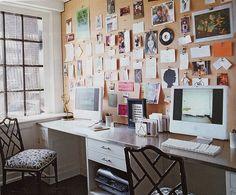 desk & corkboard wall Elle Decor by The Estate of Things, via Flickr