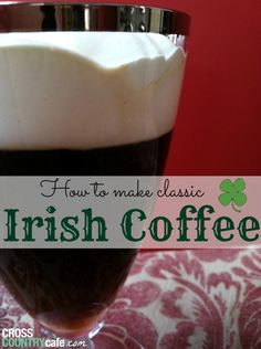 Just getting a head start on the spring festivities with a traditional Irish Coffee! Irish Recipes, Tea Recipes, Coffee Recipes, Cooking Recipes, Recipies, Coffee Uses, Coffee Blog, Drinks Alcohol Recipes, Yummy Drinks