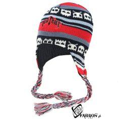 Ciepła czapka NO FEAR jesień zima uszatka finka