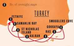 Here is all the stops that the Sail Turkey trip makes along the coast before returning to Fethiye. Sounds amazing!