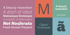 Classic Grotesque by Monotype