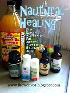 Cure Sickness Naturally WITH easy home remedies and recipes to fight flu, cold, sore throat, headaches, stuffy nose !:
