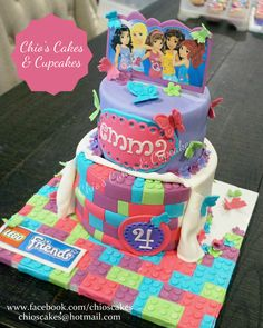 Lego Friends Theme Cake. Follow me: www.facebook.com/chioscakes #LegoFriends #LegoFriendsCake #BirthdayCake #LegoFriendsParty