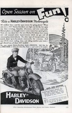 | Vintage Harley-Davidson Ad