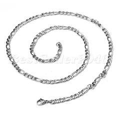 Damen Herren Edelstahl Panzerkette Halskette Kette Schmuck 6 mm breit Silber