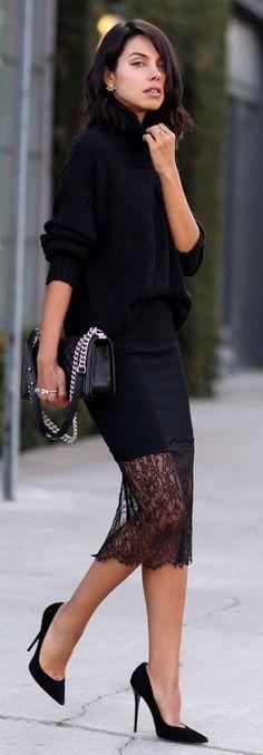 Black Lace hem.                                                                                                                                                                                 More