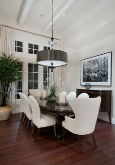Classic Dining Room in Black and White