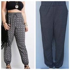 Plus size joggers Two toned plus  size joggers with side pockets and elastic at bottom . Please see last pic for true colors .Also available in other sizes . 95%polyester 5% spandex . Price is firm unless bundled . Pants Jumpsuits & Rompers