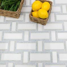 Esplanade Meadow Light Marble Tile | Tilebar.com