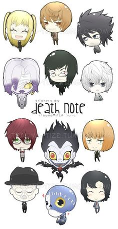 Death Note Stickers