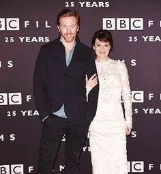 Damian Lewis and Helen McCrory - BBC Film's 25th anniversary reception held at BBC Radio 1, London, 25th March 2015.