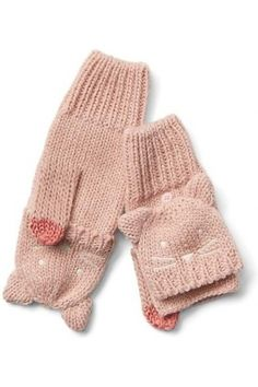 Niña Guantes - Cat Face Convertible Mittens Baby Kids Clothes, Kids Clothing, Mitten Gloves, Kids Christmas, Christmas 2017, Knit Crochet, Kids Outfits, Knitting, Tricot