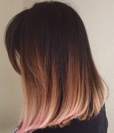 Pretty Rose Gold Ombre Hair Color For Prom