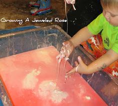 Lots of sensory play ideas for babies and toddlers