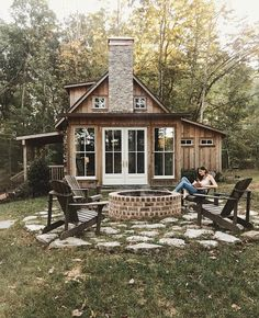 """""""When I was a boy and I would see scary things in the news, my mother would say to me, Look for the helpers. You will always find people… Tiny House Cabin, Tiny House Living, Cabin Homes, Log Homes, Tiny Homes, Tiny House Movement, Cabins And Cottages, Cabins In The Woods, Cabins In The Mountains"""